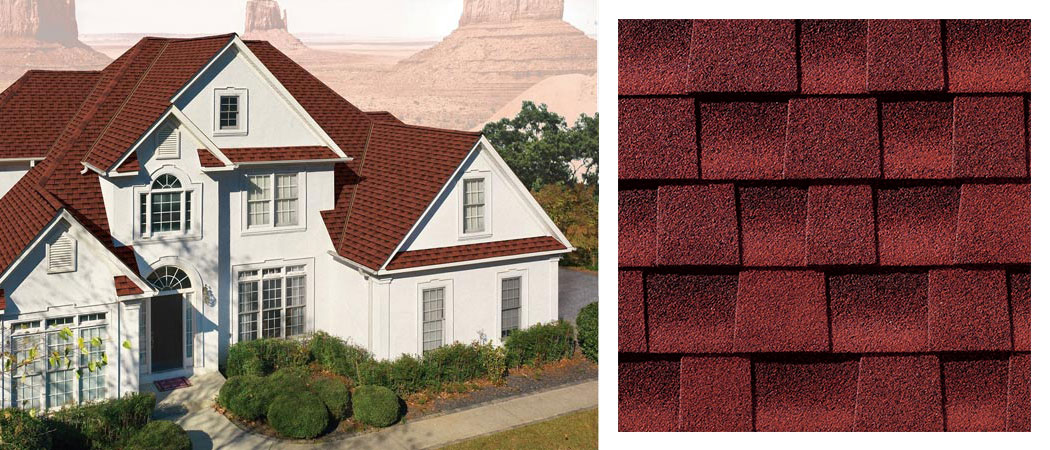 shingle roofing options PATRIOT RED
