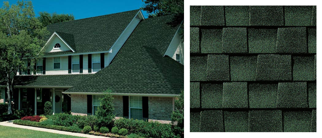 shingle roofing options HUNTER GREEN